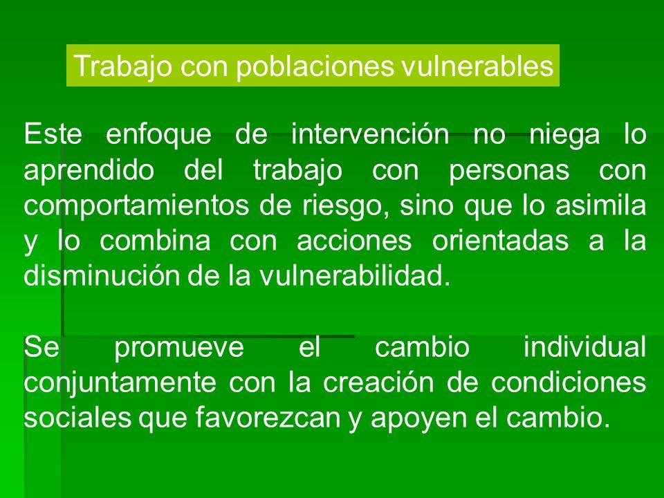 Trabajo con poblaciones vulnerables