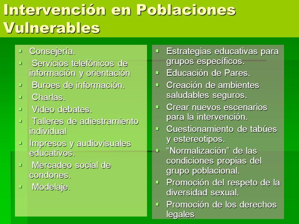 Intervención en Poblaciones Vulnerables