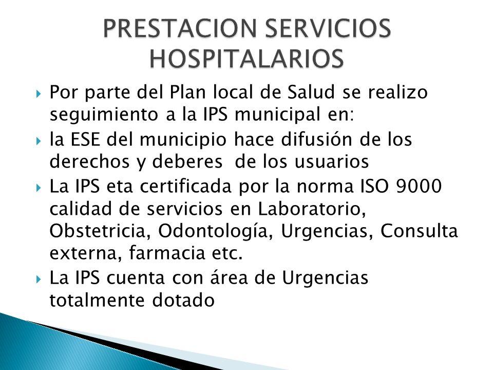 PRESTACION SERVICIOS HOSPITALARIOS