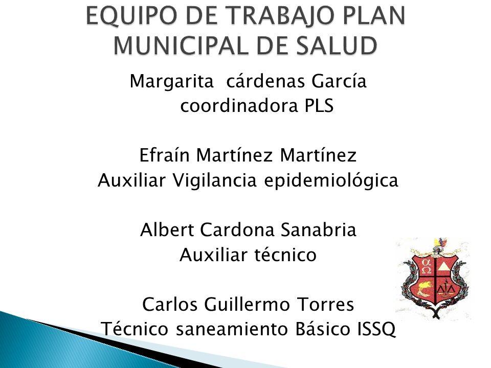 EQUIPO DE TRABAJO PLAN MUNICIPAL DE SALUD