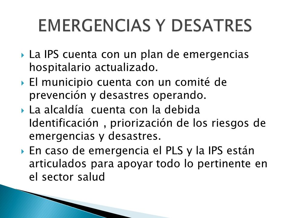 EMERGENCIAS Y DESATRES