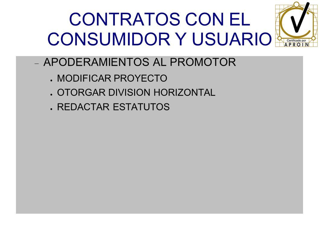 CONTRATOS CON EL CONSUMIDOR Y USUARIO