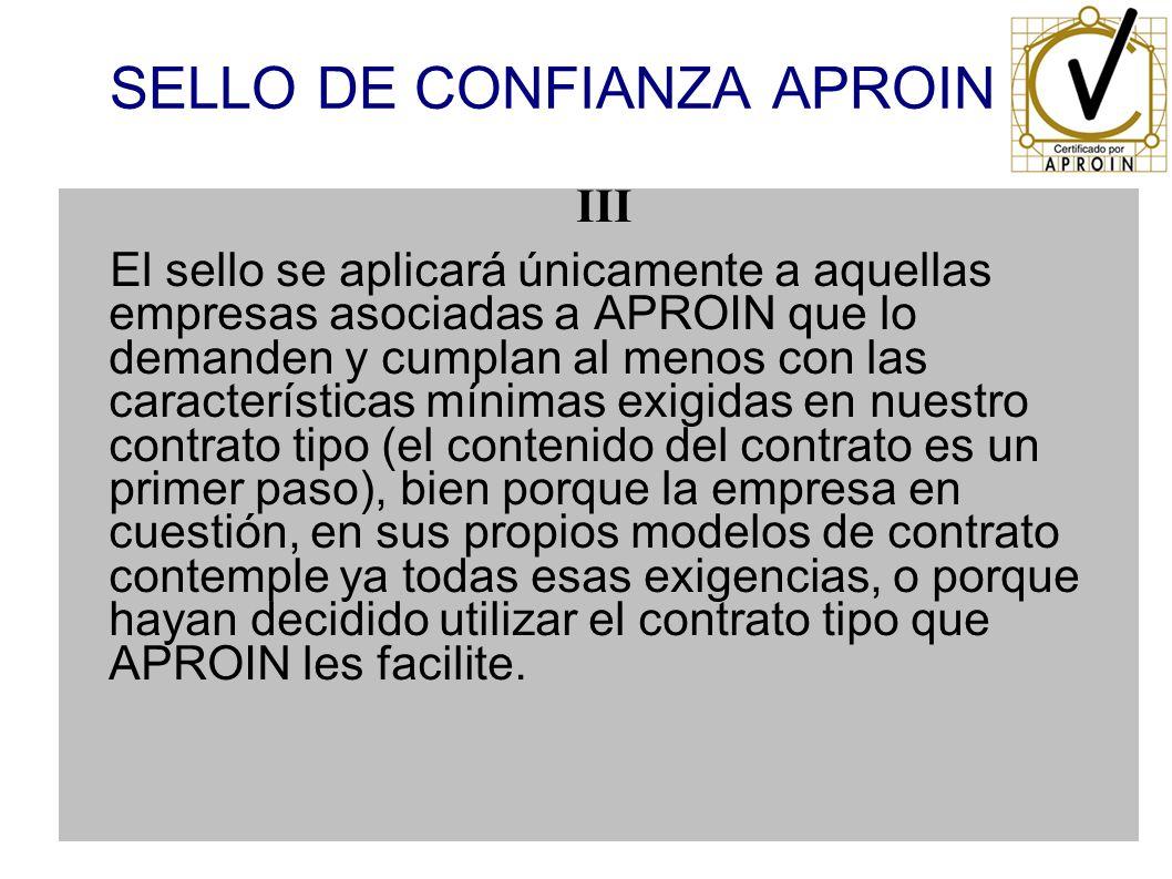 SELLO DE CONFIANZA APROIN