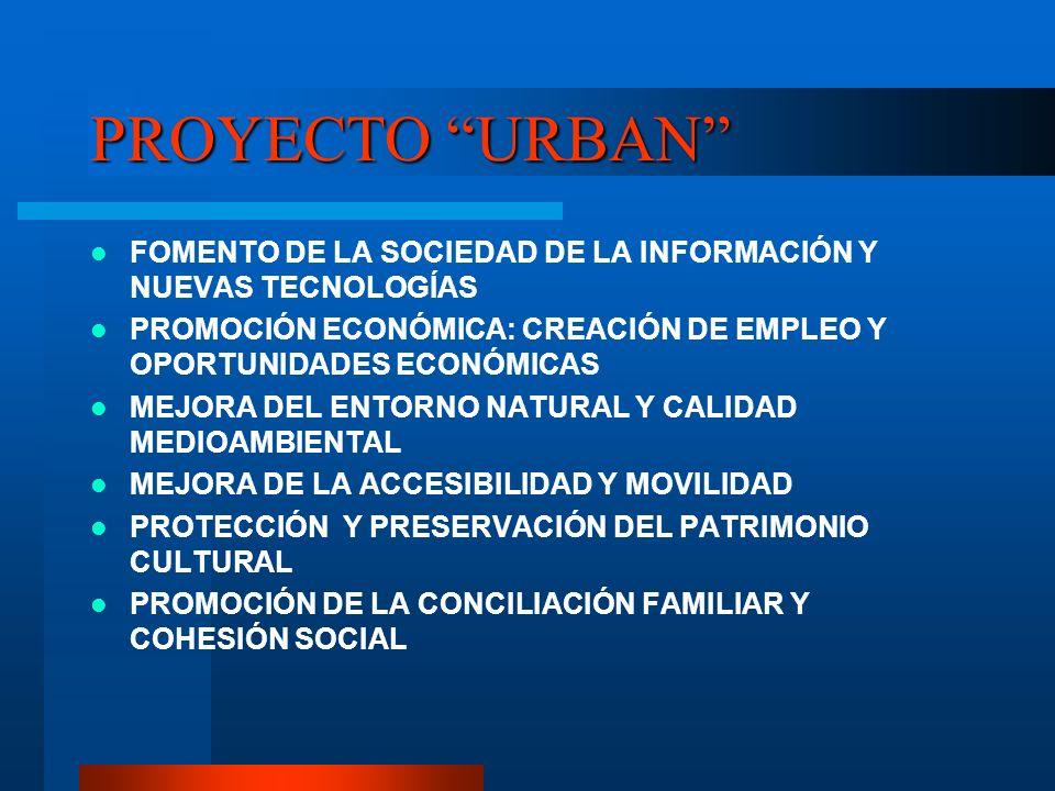 PROYECTO URBAN FOMENTO DE LA SOCIEDAD DE LA INFORMACIÓN Y NUEVAS TECNOLOGÍAS. PROMOCIÓN ECONÓMICA: CREACIÓN DE EMPLEO Y OPORTUNIDADES ECONÓMICAS.