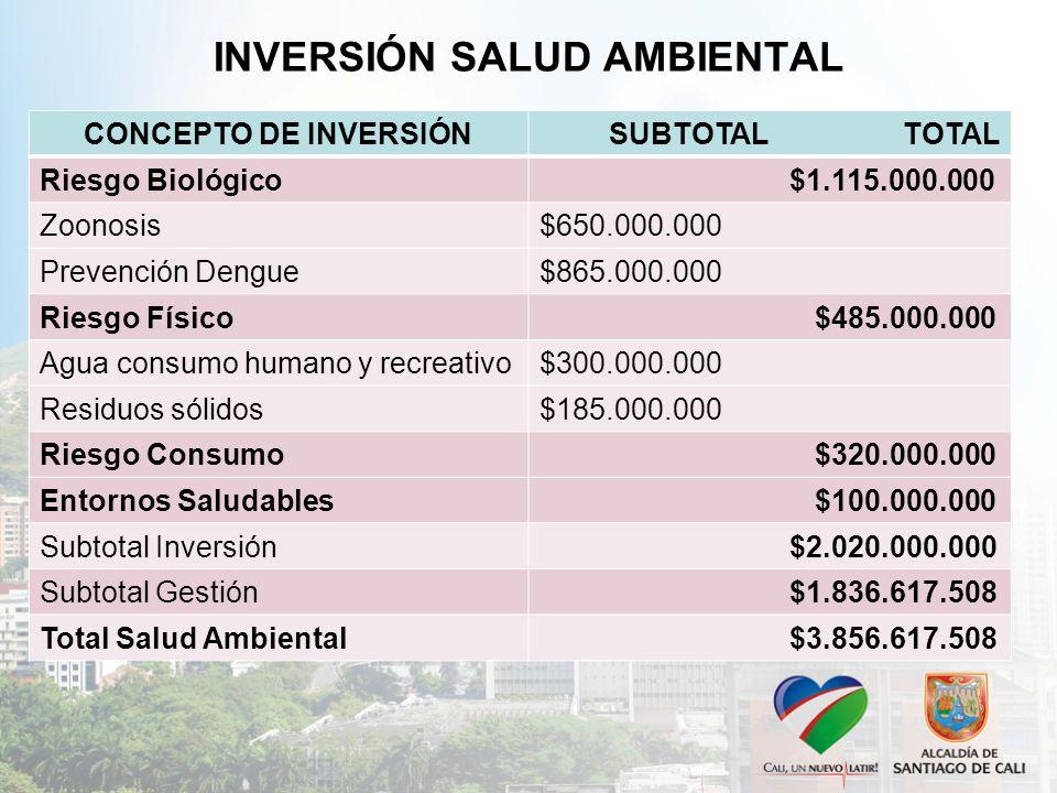 INVERSIÓN SALUD AMBIENTAL