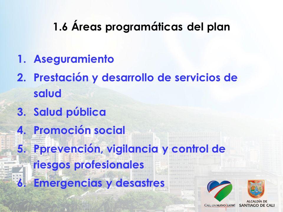 1.6 Áreas programáticas del plan