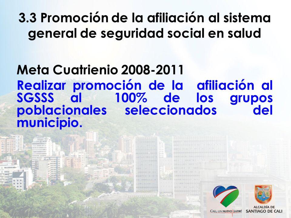 3.3 Promoción de la afiliación al sistema general de seguridad social en salud