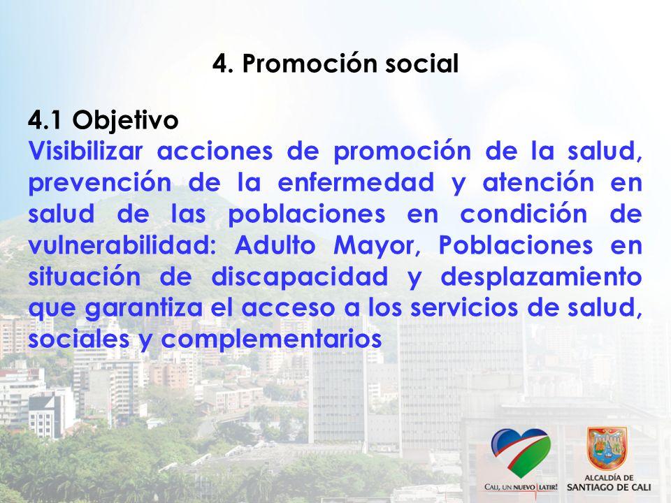 4. Promoción social 4.1 Objetivo.