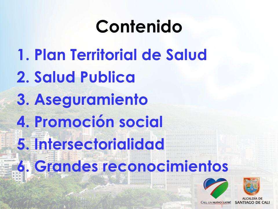Contenido 1. Plan Territorial de Salud 2. Salud Publica