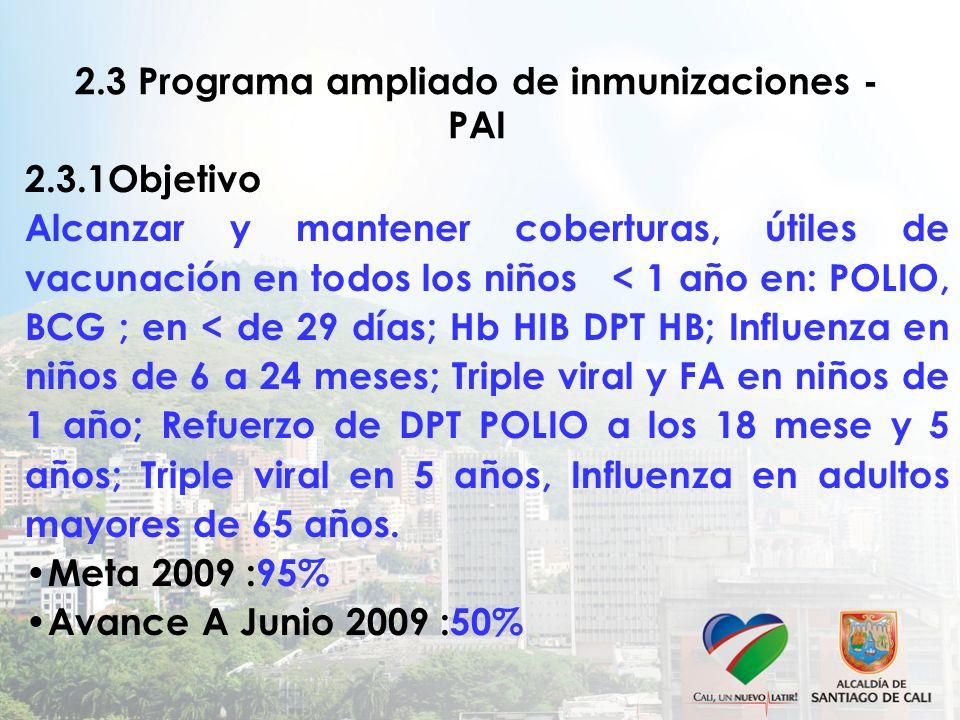 2.3 Programa ampliado de inmunizaciones - PAI