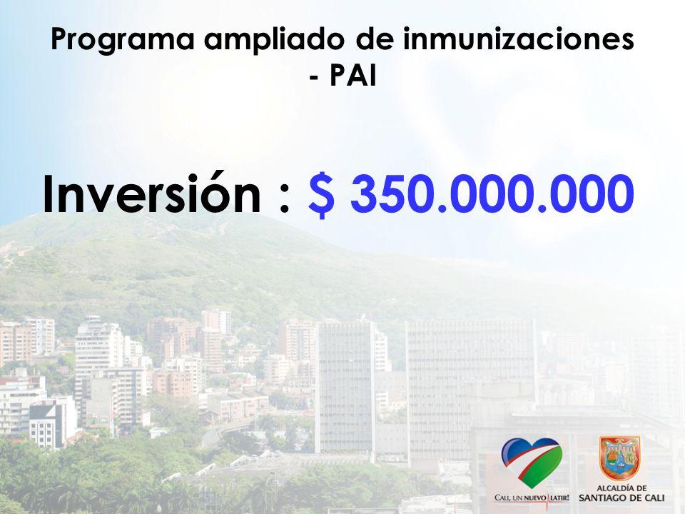 Programa ampliado de inmunizaciones - PAI