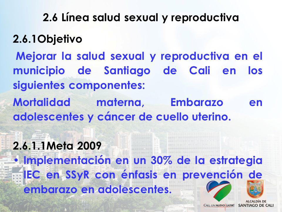 2.6 Línea salud sexual y reproductiva