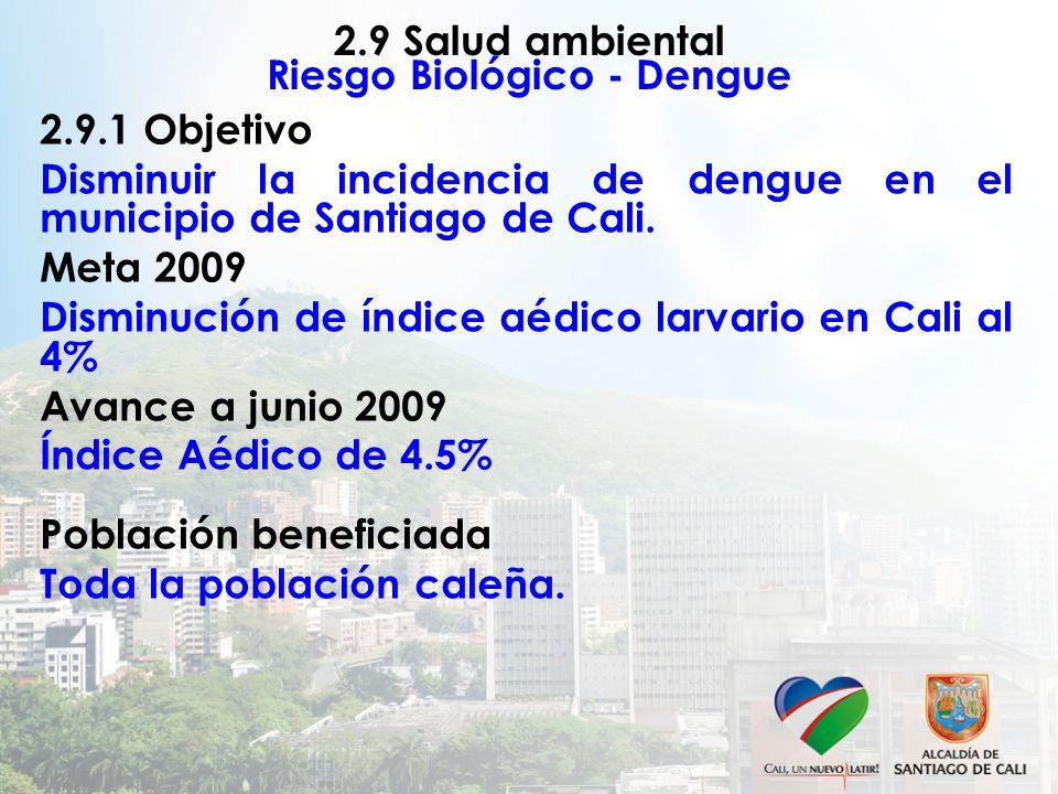 2.9 Salud ambiental Riesgo Biológico - Dengue