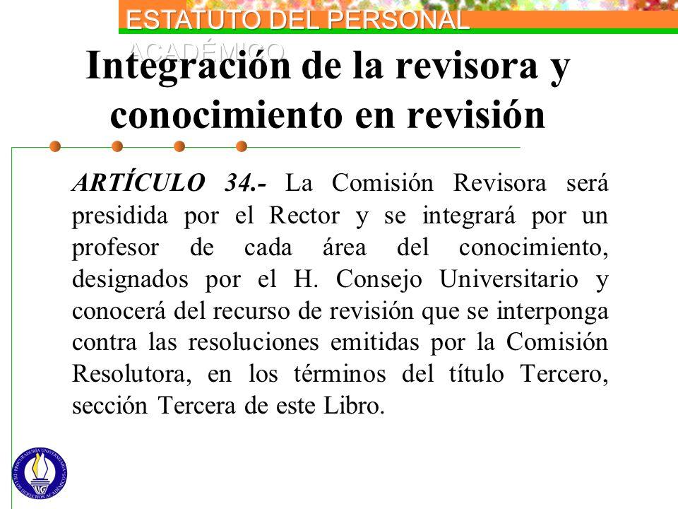 Integración de la revisora y conocimiento en revisión