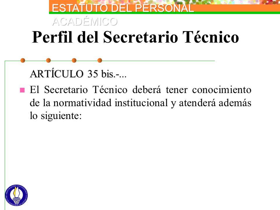 Perfil del Secretario Técnico