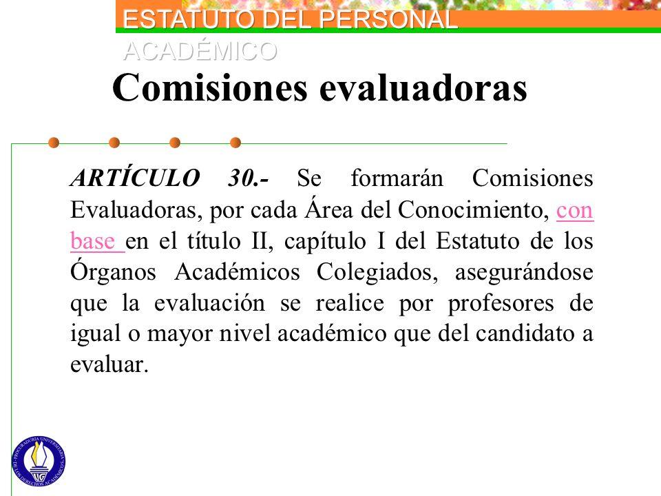 Comisiones evaluadoras