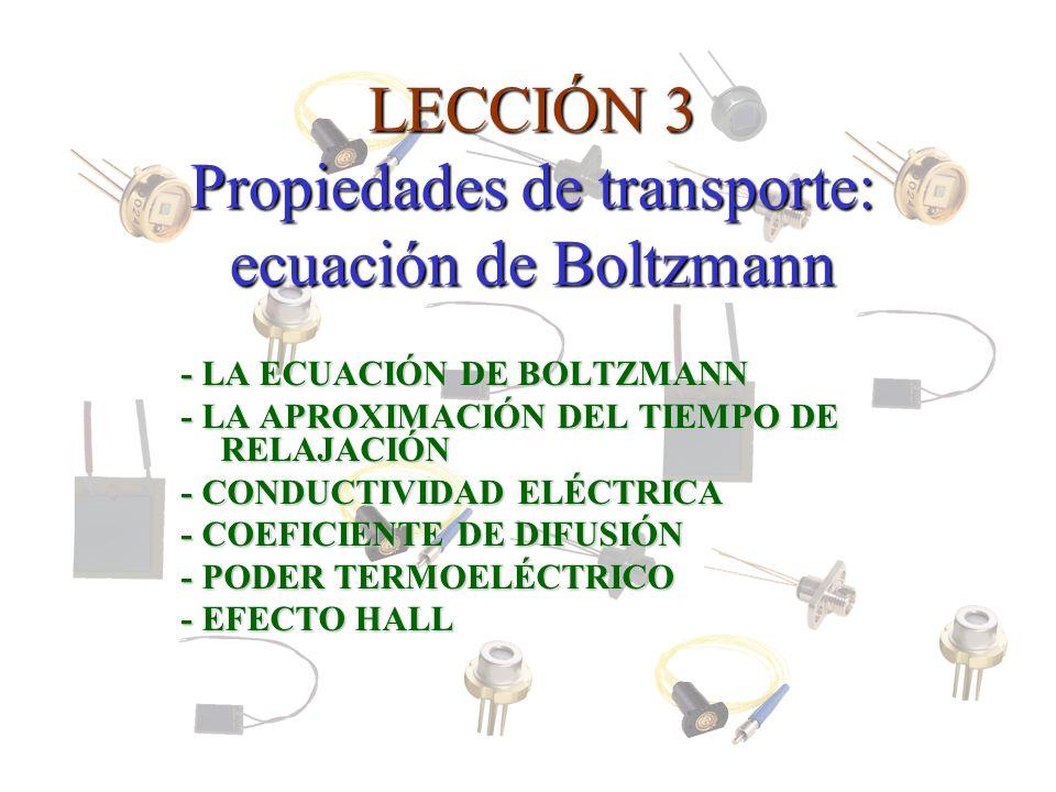 LECCIÓN 3 Propiedades de transporte: ecuación de Boltzmann