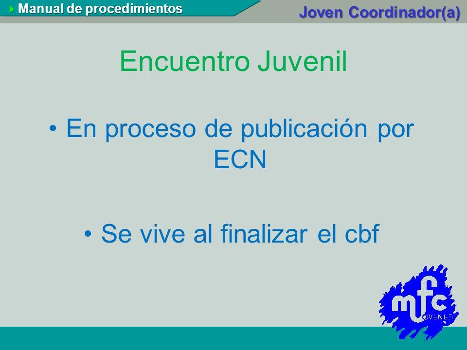 Encuentro Juvenil En proceso de publicación por ECN