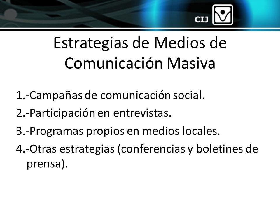 Estrategias de Medios de Comunicación Masiva