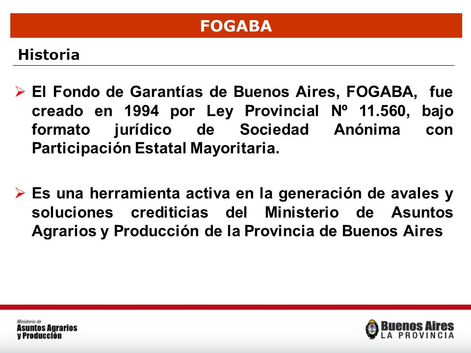 FOGABA Historia.