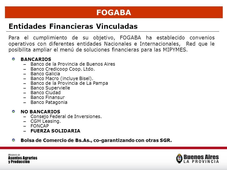 FOGABA Entidades Financieras Vinculadas