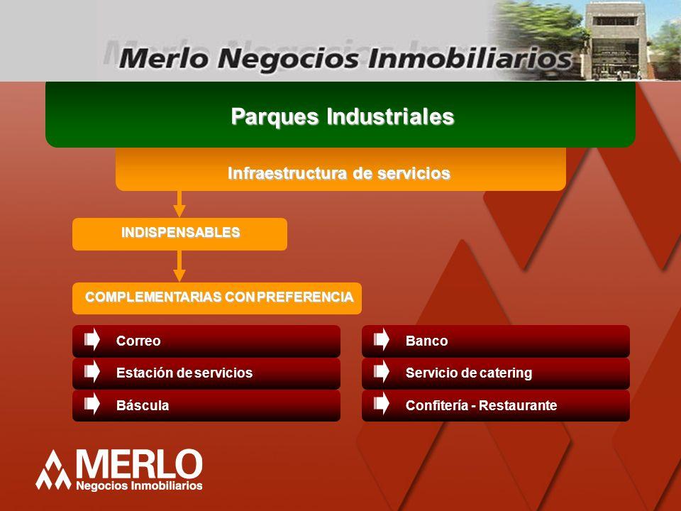 Infraestructura de servicios COMPLEMENTARIAS CON PREFERENCIA
