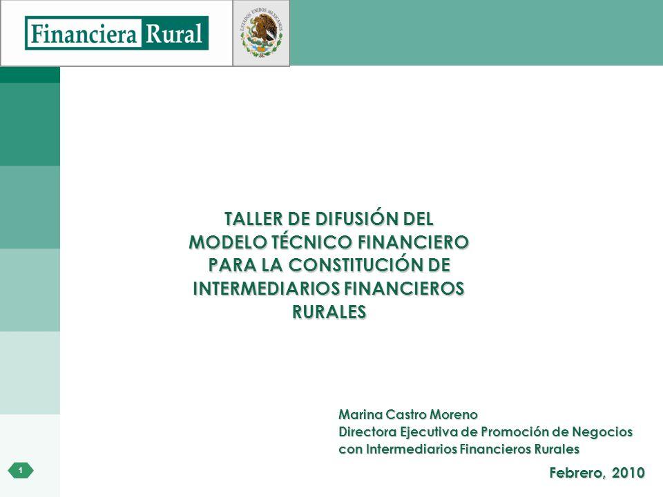 MODELO TÉCNICO FINANCIERO PARA LA CONSTITUCIÓN DE