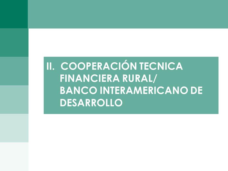 II. COOPERACIÓN TECNICA FINANCIERA RURAL/ BANCO INTERAMERICANO DE DESARROLLO