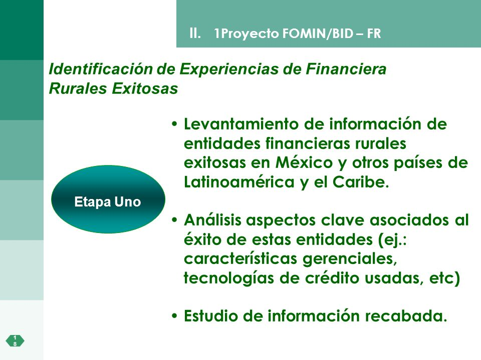Identificación de Experiencias de Financiera Rurales Exitosas