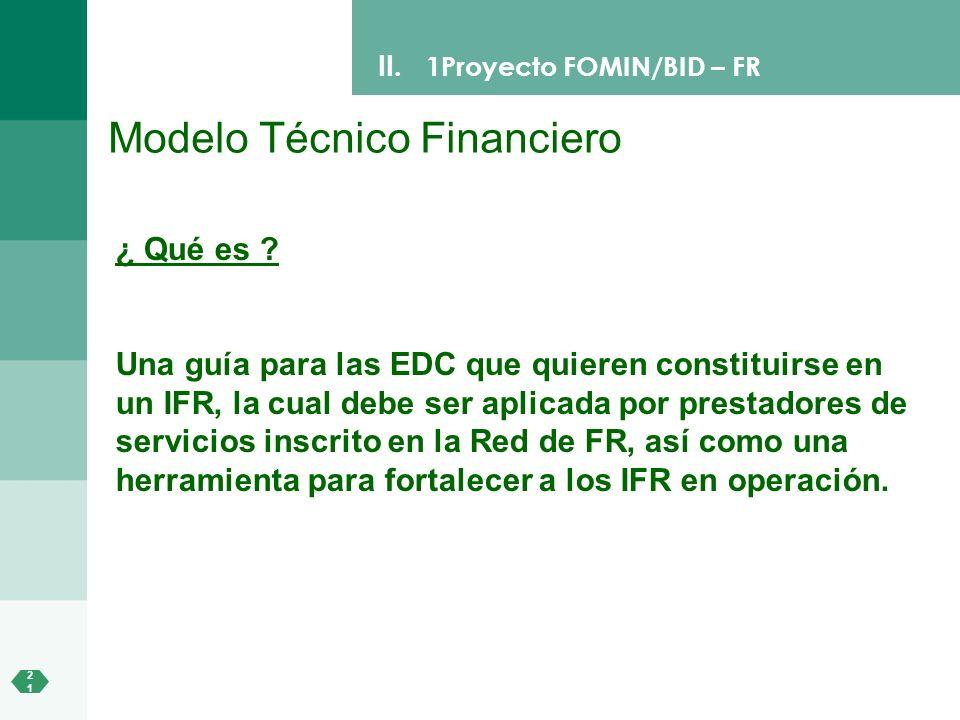 Modelo Técnico Financiero