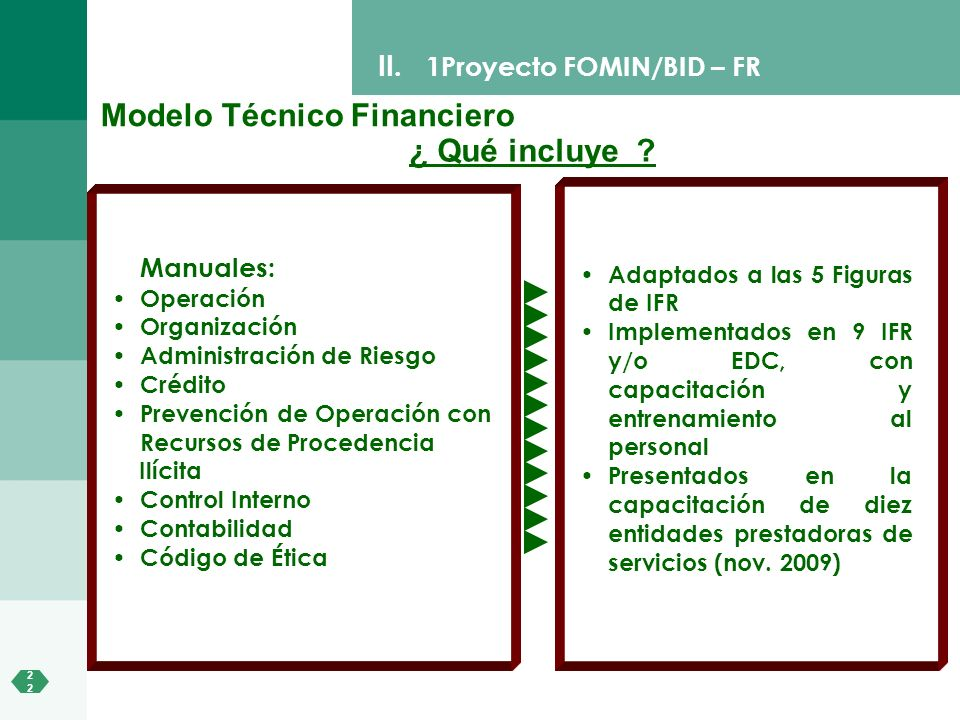 Modelo Técnico Financiero ¿ Qué incluye