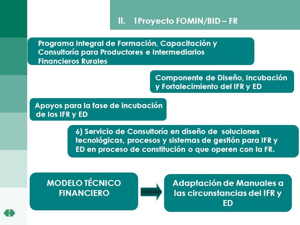 1Proyecto FOMIN/BID – FR