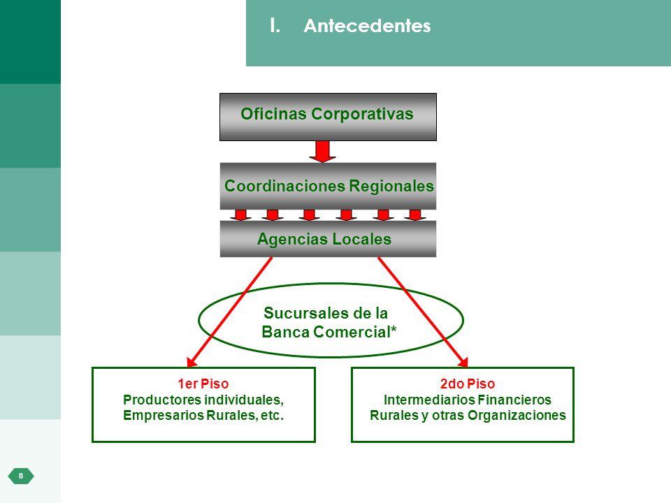 Antecedentes Oficinas Corporativas Coordinaciones Regionales