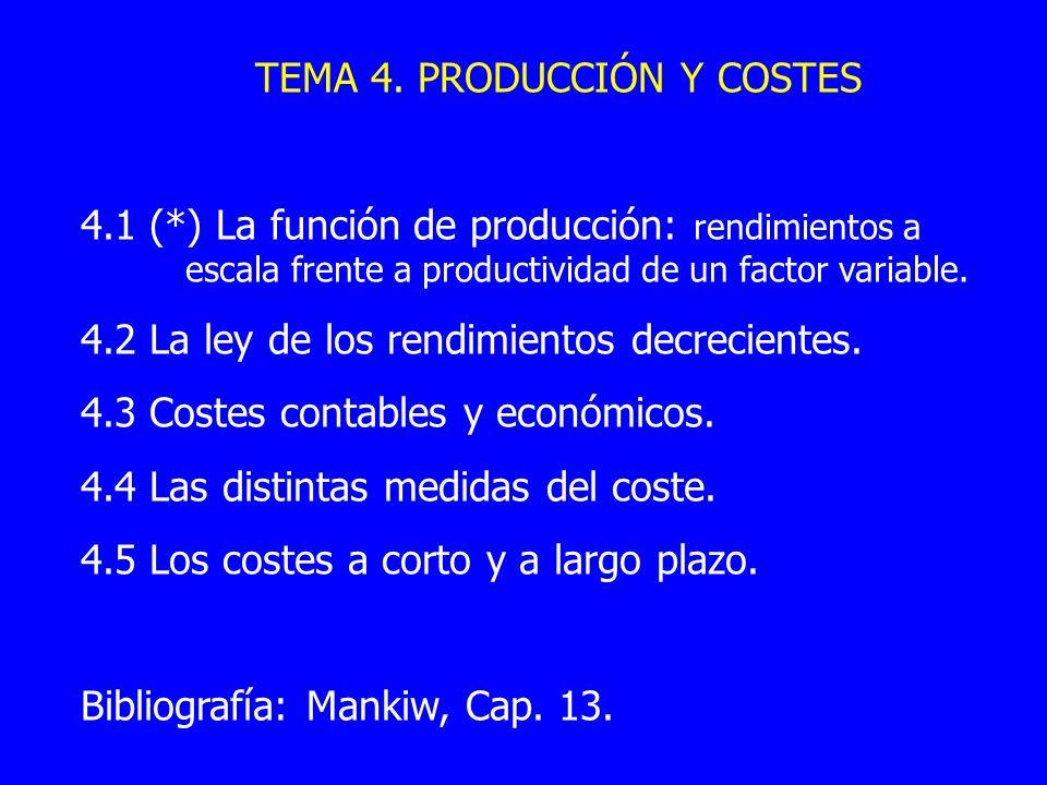 TEMA 4. PRODUCCIÓN Y COSTES