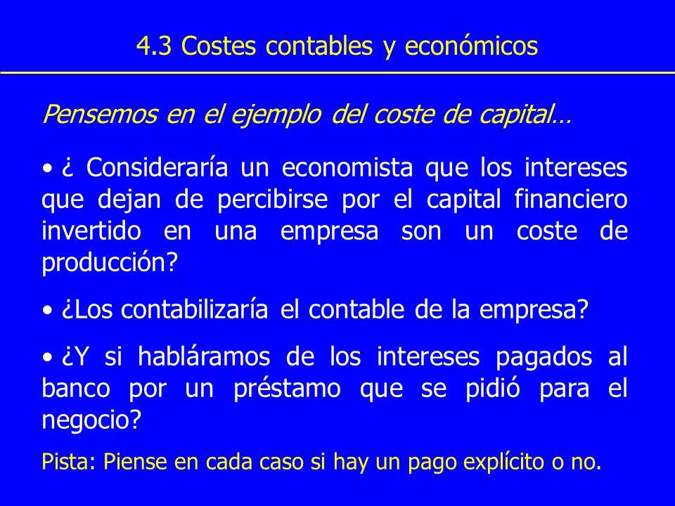 4.3 Costes contables y económicos