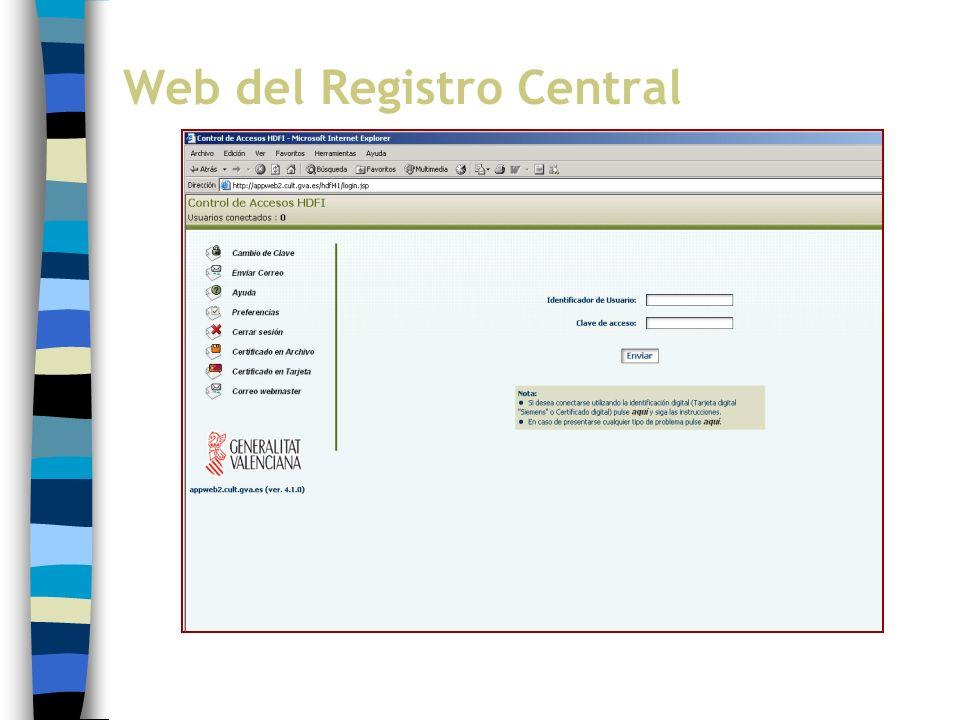 Web del Registro Central