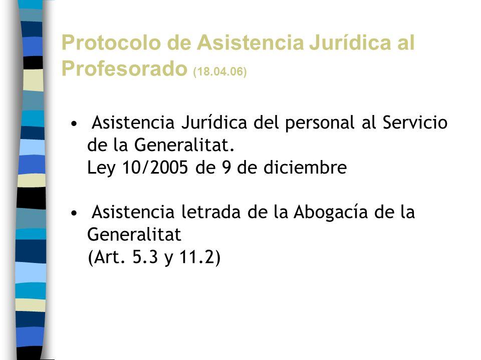 Protocolo de Asistencia Jurídica al Profesorado (18.04.06)