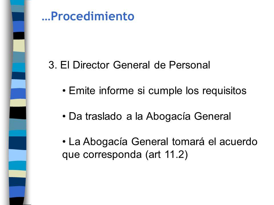 …Procedimiento 3. El Director General de Personal