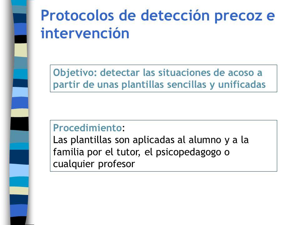 Protocolos de detección precoz e intervención