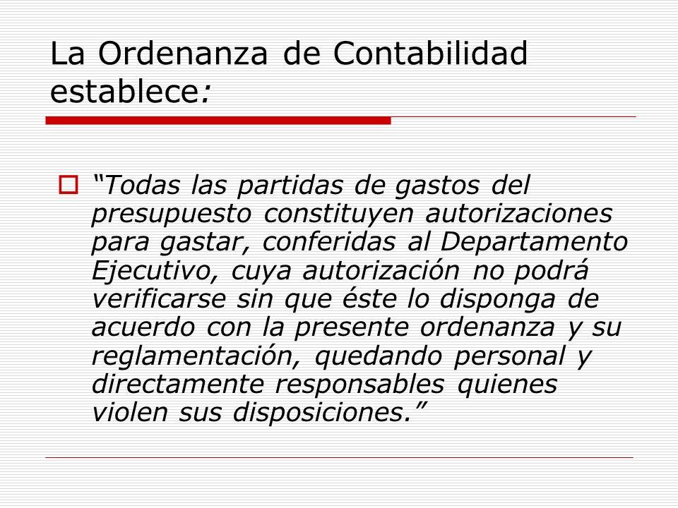 La Ordenanza de Contabilidad establece: