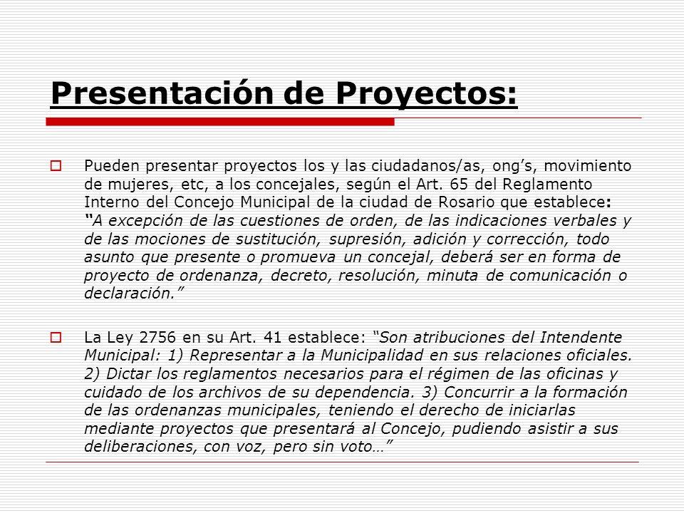Presentación de Proyectos: