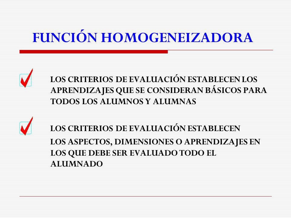 FUNCIÓN HOMOGENEIZADORA