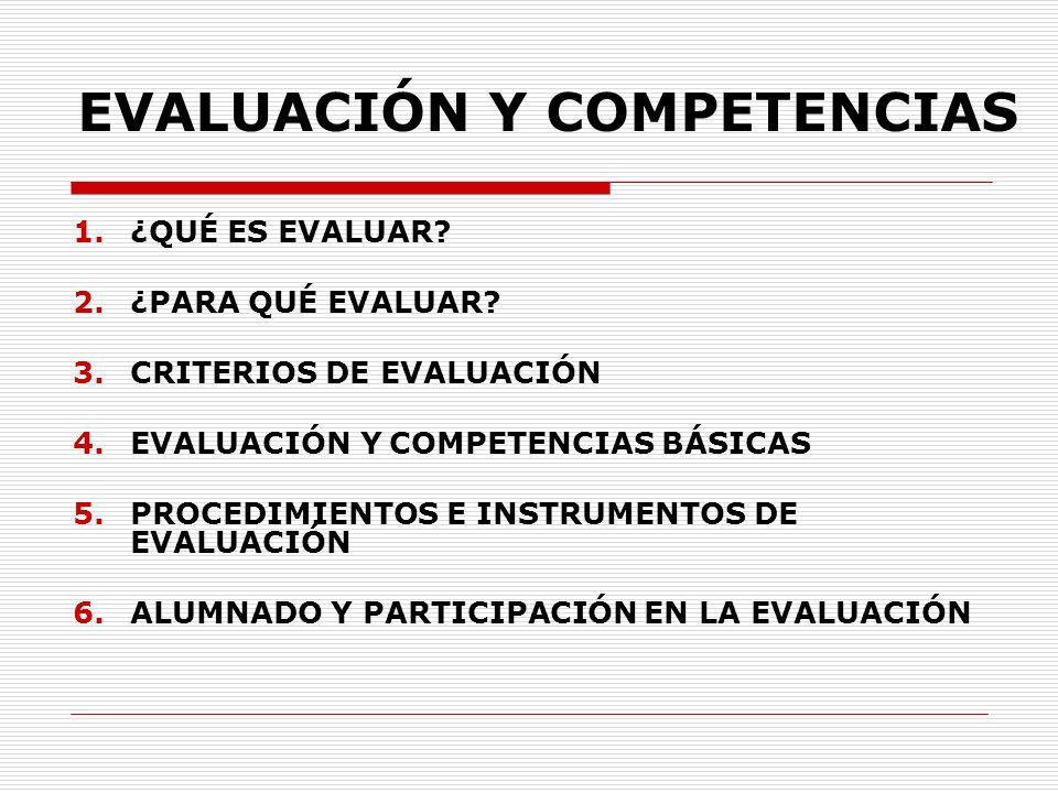 EVALUACIÓN Y COMPETENCIAS