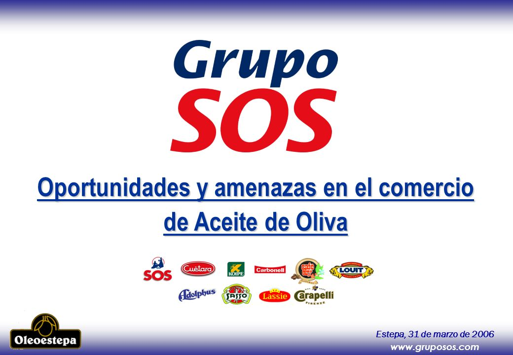 Oportunidades y amenazas en el comercio de Aceite de Oliva