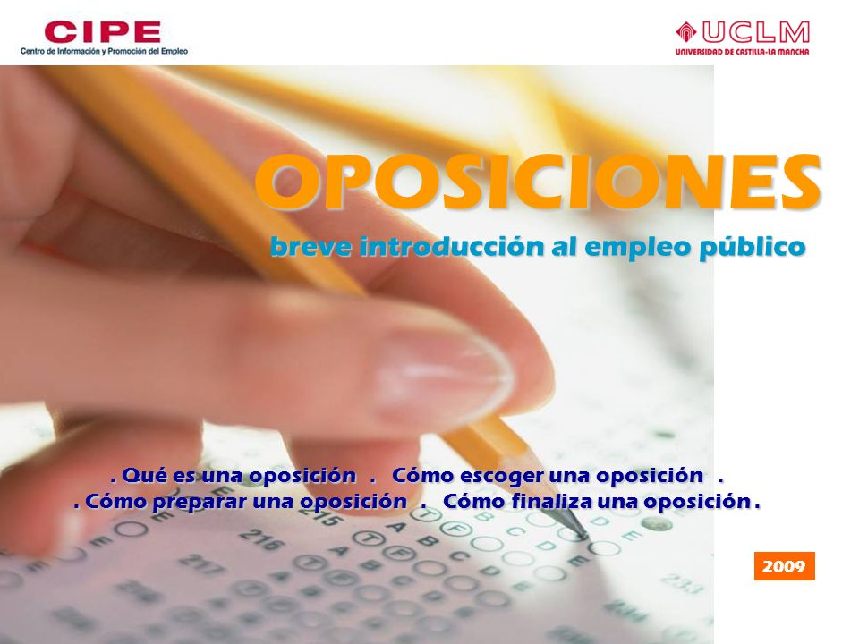 OPOSICIONES breve introducción al empleo público