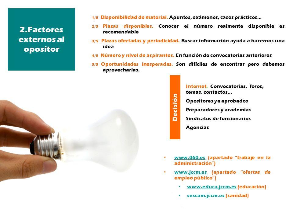 2.Factores externos al opositor