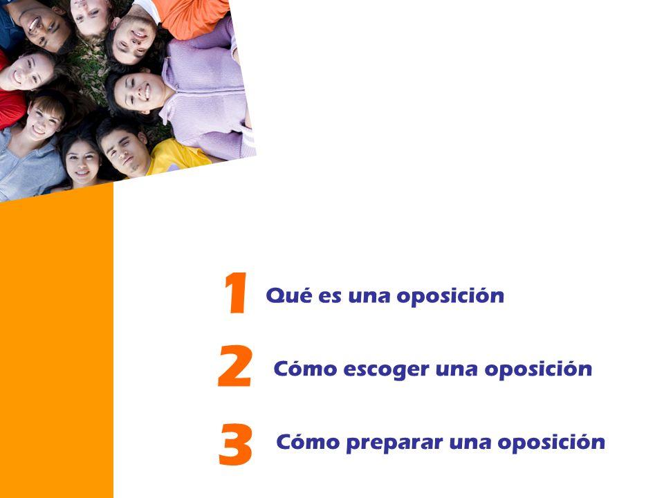 1 2 3 Qué es una oposición Cómo escoger una oposición
