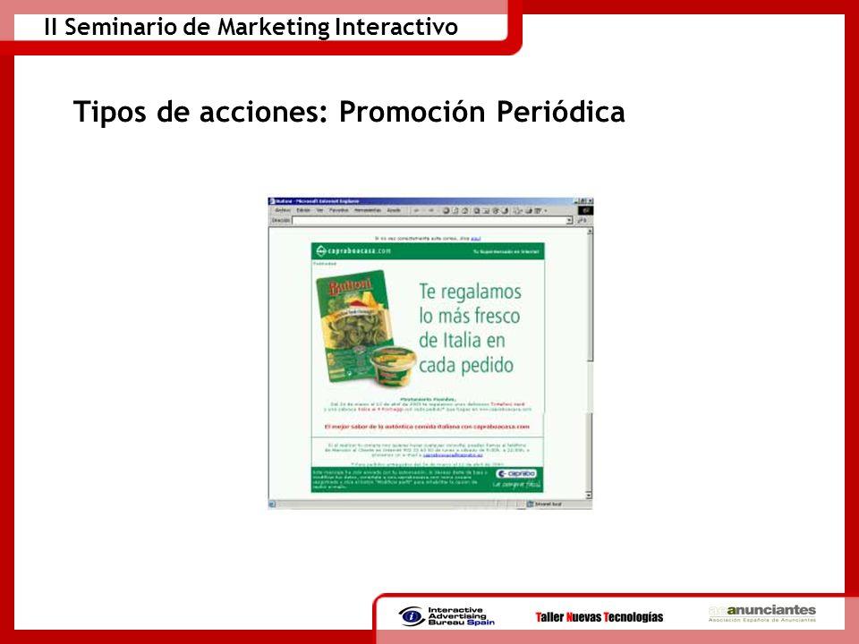 Tipos de acciones: Promoción Periódica