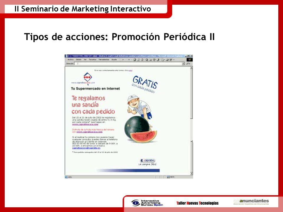 Tipos de acciones: Promoción Periódica II