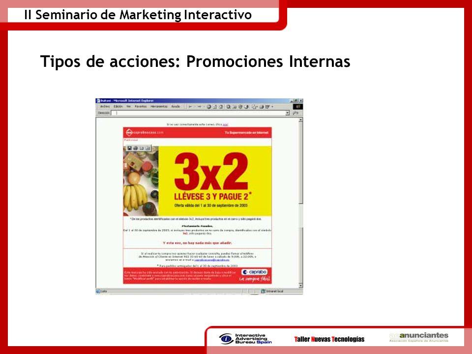 Tipos de acciones: Promociones Internas